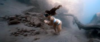 Stein unterwasser rennen
