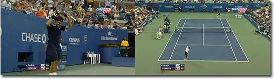 tennis, durch die Beine, Schlag, Roger Federer