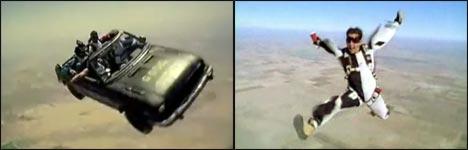 Skydive, Skysurf, Fallschirmspringen