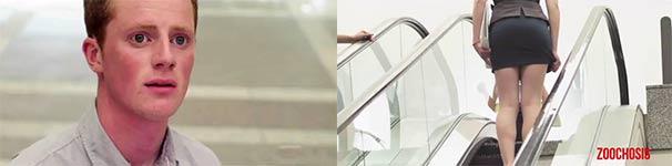 Rolltreppe, Schokolade und Frauen
