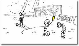 Cristiano Ronaldo vs Ronaldinho, Fussball, comic