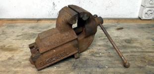 Restaurierung Rost Schraubstock