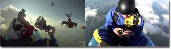 zauberwürfel, skydiving, fallschirmspringen