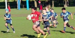 9-jähriger Rugby-Spieler zerstört seine Gegner
