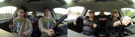 Russen Auto tanzen