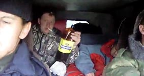 Russland, Auto, Alkohol, Wodga, Party
