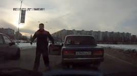 russland, autofahrer, rache