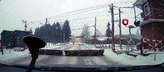 Russische Bahnübergange