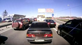 Russian Driving Lesson: Merging