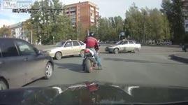 russland, motorrad, straßenkampf