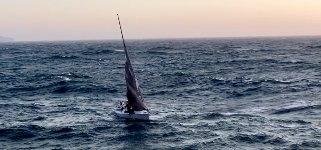 Segelboot in Nöten