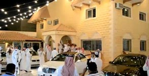 Saudi, Hochzeit, AK47, Waffen
