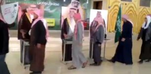 Saudischen Königsfamilie Hände schütteln