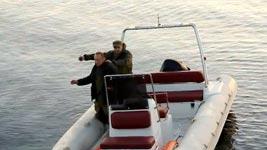 Russland, Explosion, Filmset, Schlauchboot