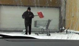 Schnee, Einkaufswagen
