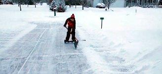 Schnee schieben Hoverboard