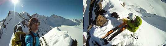 ski, absturz, berg