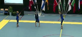 Schwedinnen Seilspringen