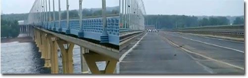 schwingende brücke, bridge, russland