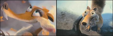 scrat in love ice age 3