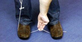 Seil schneiden Messer Schere