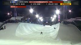 Shaun White in der Snowboard SuperPipe