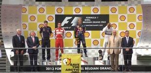 Greenpeace, Shell, Formel 1 Siegerehrung