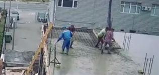 Beton Estrich Baustelle Unfall