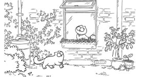Simon's Cat Valentinstag Schmetterling