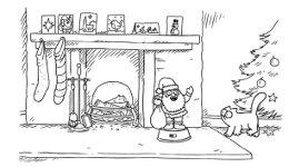 Simon's Cat Weihnachtsgeschenke Weihnachtsmann