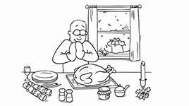 Simon's Cat, Simons Katze, Weihnachten, essen