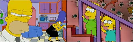The Simpsons, Mr. & Mrs. Smith, Parody, homer, marge, bart