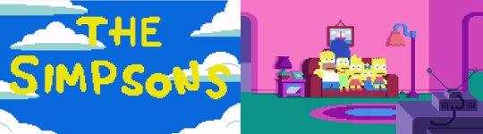 Simpsons Pixel Intro
