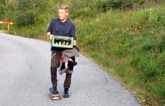 Skateboard, Bierkasten