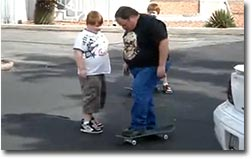 skateboard,dad, faceplant