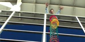'Slinky Zeitlupe