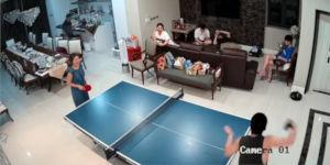 Tischtennis Aua Gesicht Kelle