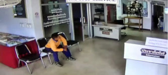 Schlange Angriff Polizeistation