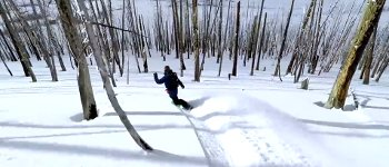 Snowboarden Drohne