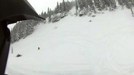 snowmobil, lawine