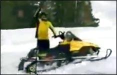 Snowmobil, Schneemobil, salto