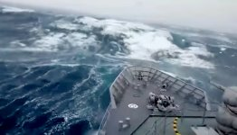 Sturm Schiff südlicher Ozean