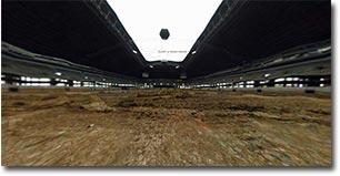 stadion, sprenung, 3d, mittendrin