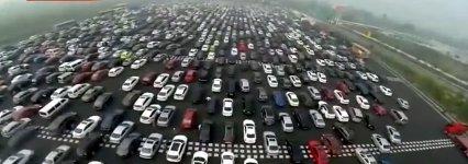 Verkehr Stau China