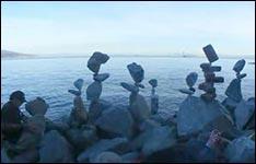 steine balancieren, strand
