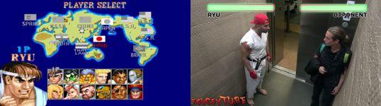 Street Fighter Fahrstuhl Verarschung