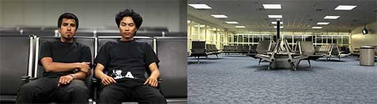 flughafen, terminal, allein