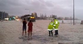 Schaumparty an der australischen Sunshine Coast
