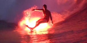 Feuer, Flamme, Surfer, surfen