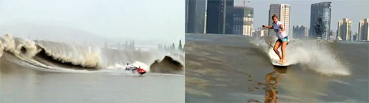 Surfing Chinas River Wave - The Silver Dragon